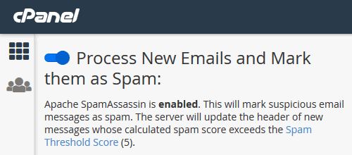 How to whitelist an email address in cPanel Webmail